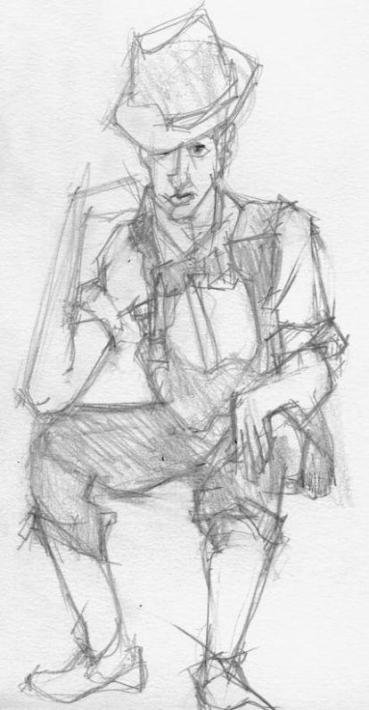 Self-Portrait on Vaudeville