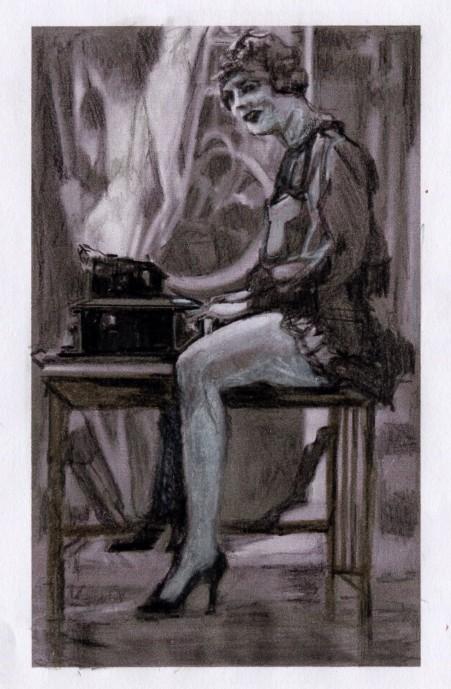 secretary-with-typewriter