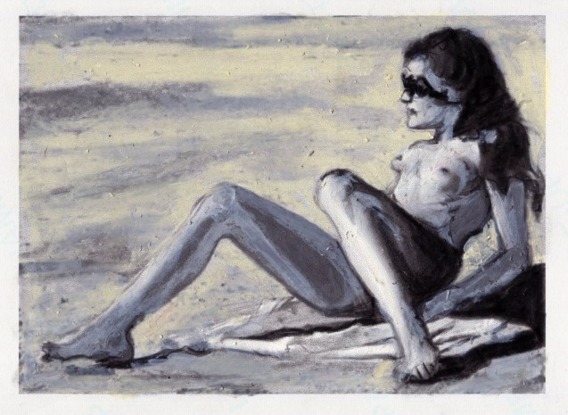Study of a Nude on the Beach #3